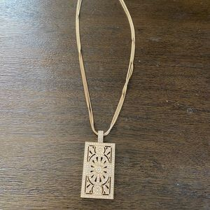 Art Deco gold necklace 20 inch chain (JVT)